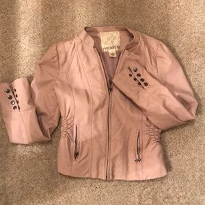Pleather Pink Jacket
